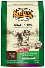 NUTRO Adult Small Bites Lamb and Rice Dog Food, 30 lbs., New, Free Shipping