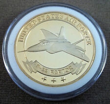 US Air Force Lockheed Martin F-22 Raptor Tactical Fighter Challenge Coin (B)