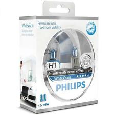 H1 PHILIPS White Vision 4300K Genuine Light Bulbs Globes + 2Free W5W 12258WHVSM