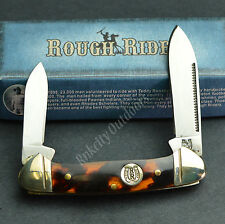 ROUGH RIDER 440 Stainless Imitation Tortoise Shell Mini Canoe Pocket Knife RR506