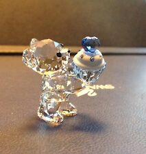"Swarovski Crystal Figurine 2015 KRIS BEAR, ""Blue Cupcake"" RETIRED"