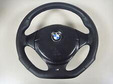 2)Abgeflacht Lederlenkrad BMW E34 E36 E39 mit Airbag NEU LEDERRBEZUG 3-375-E36-1