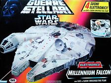 Star Wars POTF2 ANH Electronic Millenium Falcon Foreign Box Art OTC Vehicle MISB