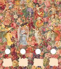 selbstklebende Ordnerrücken für breite DIN A4 Ordner Engel / Elfen / Blumen