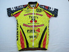 EUC Mens Capo Chevron Italy Made Hi Viz Full Zip Race Bike Cycling Jersey Sz S