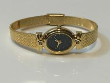 Vintage Elgin Diamond   Elegant Gold Plated Ladies Wrist Watch(EL-020Q)