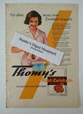 Werbeanzeige/advertisement A5: Thomy's Röst-Zwiebeln 1963 (170716243)