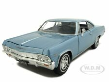 1965 CHEVROLET IMPALA SS 396 LIGHT BLUE 1/24 DIECAST MODEL CAR BY WELLY 22417