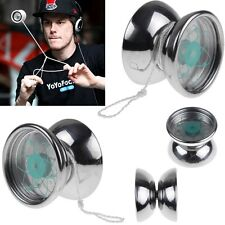 Professional YoYo Ball 3 Bearing String Trick Stainless SteelToy Silver Tone