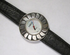 SURRISI Swiss Movement STERLING SILVER Case & Clasp M.O.PEARL FACE RUNS GREAT!