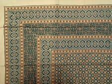 Handmade Cotton Moroccan Foulard Tapestry Tablecloth Coverlet Bedspread Full