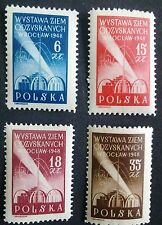 POLAND-STAMPS MNH Fi462-65 Sc426-29 Mi493-96-Exhibit. of recovery territor.,1948