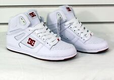New 2016 DC Women's Rebound High Top Shoes White Red 7
