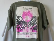 New OBEY PROPAGANDA Democracy Gasps for Air Miltary Green Corruption Extra Large