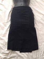 ALL SAINTS AllSaints Black Linen/Cotton Blend Pencil Skirt Size 8 UK