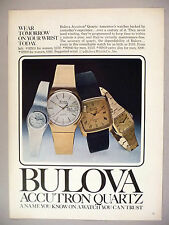 Bulova Watch PRINT AD - 1979 ~ Accutron Quartz ~ watches, wristwatch