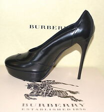 NIB BURBERRY PRORSUM $710 LEATHER PUMPS SHOES EU 37.5 US 7 MADE IN ITALY