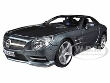 MERCEDES SL 500 COUPE GREY 1/24 DIECAST MODEL CAR BY BBURAGO 21067