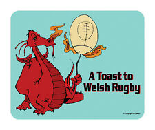 Toast to Rugby Mouse Mat - Cymru/Wales Dragon