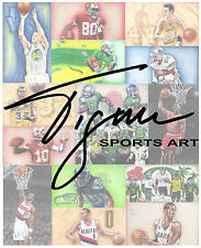 Custom Sports Art Drawing Birthday Groom Groomsman Graduation Gift Tigner