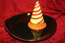 Ceramic Halloween    CHIP AND DIP    CANDY or SNACK BOWL    VEGETABLE AND DIP