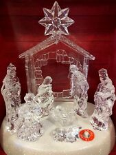 MUSICAL HOLIDAY NATIVITY SCENE Led  LIGHTS CHRISTMAS Table Centerpiece Icicle