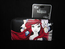 Disney Loungefly The Little Mermaid Zip Wallet Clutch Anime