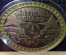 Montana Silversmiths National Guard Antiqued Silver And Green Belt Buckle NEW