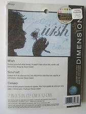 "Dimensions Counted Cross Stitch Kit ""Wish"" Dream Believe   Sharyn Sowell 7x5 NOS"