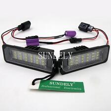 2Pc 18SMD LED License Plate Light For VW Golf 1999-2014 2000 2001 2002 2003 2004