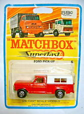 Matchbox Superfast Nr.06A Ford Pick-up auf rarer 1969 Blisterkarte