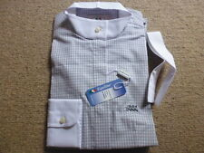Equiline grey/white check long sleeve competition show shirt size It 40 UK 8