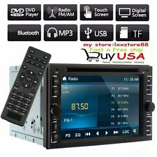 """Double 2Din 6.2"""" Car Stereo DVD CD MP3 Player HD In Dash Bluetooth Ipod TV Radio"""