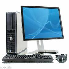 "Fast Dell Desktop Pc Tower 6 Ghz 2x3 Ghz E8400 500GB 4GB Ddr3 17"" Monitor Wi-Fi"