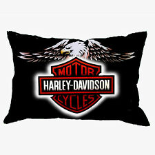 pillowcase HARLEY DAVIDSON zippered pillow case size 18'' x 26'' two side