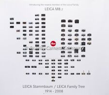 "LEICA 20x24"" Family Tree (1914-2008) Color Poster UR Leica to Leica M 8.2  NEW !"