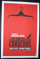 SILENCE OF THE LAMBS Hand-Signed Cuban Silkscreen Movie Tribute Poster CUBA ART