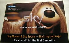 Advertising Sky Television Movie Magic Roundabout Dougal - unposted