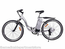 X-Treme Sierra Trails 300 W Electric Mountain Bicycle - eBike, Silver