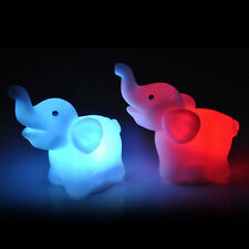 2Pcs Elephant Color Changing LED Night Light Lamp For Wedding Party Decor s