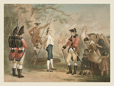 Images of Americana: The Hanging: The Last Words of Nathan Hale: Fine Art Print