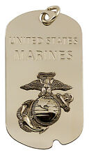 NEW United States Marines Corp USMC Bottle Opener Dog Tag with key chain. 2877.