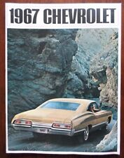 CHEVROLET 1967 Big Car Range orig USA Large Format Prestige Brochure - Impala SS