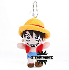ONE PIECE RUFY PELUCHE portachiavi Monkey d. Luffy cappello di paglia Rubber ace