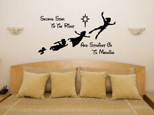 Peter Pan Second Star - Disney Children's Bedroom Decal Wall Art Sticker Picture