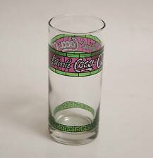 """Coca Cola Coke """"Stained glass effect tall straight glass"""" with """"Drink CocaCola"""""""