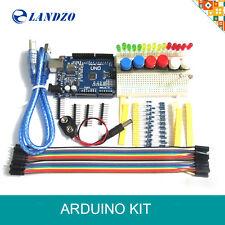 2016 New Starter Kit UNO R3 mini Breadboard LED jumper wire button for Arduino