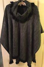 Brand New, 100% Grey Alpaca Cape Poncho Sweater, Jacket - Neiman Marcus $1200