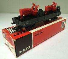 Wagon Plat à bogies avec 2 tracteurs - Jouef HO 652 - 1960's - TTBE/Neuf