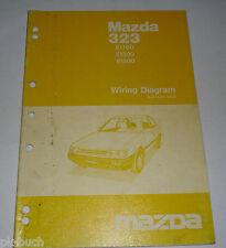 Werkstatthandbuch Workshop Manual Elektrik Mazda 323 E 1100 1300 1500, St. 1985